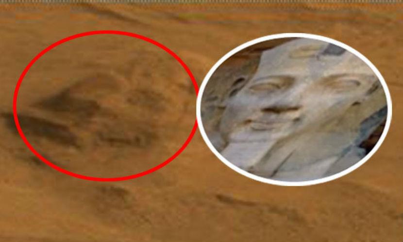 На Марсе обнаружили голову египетского фараона