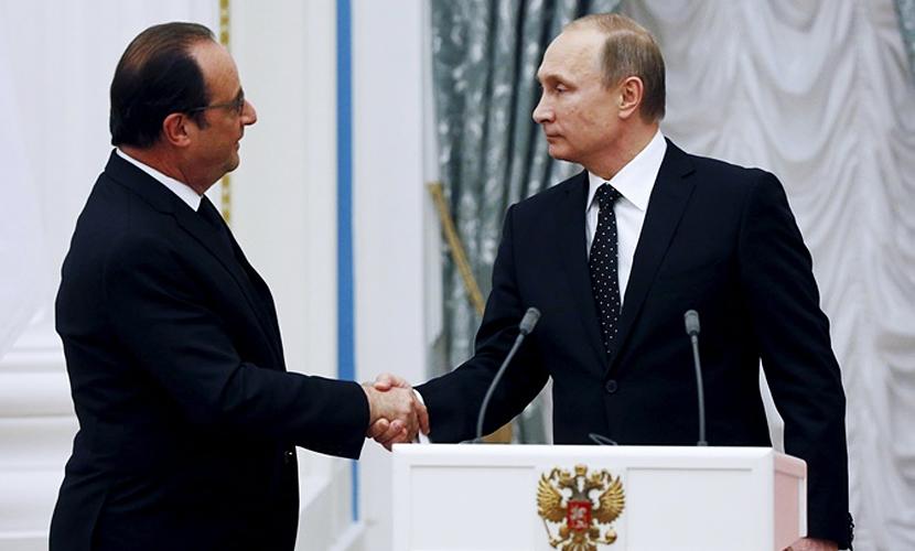 Путин и Олланд на встрече в Москве поговорили о терроризме, Турции и Украине