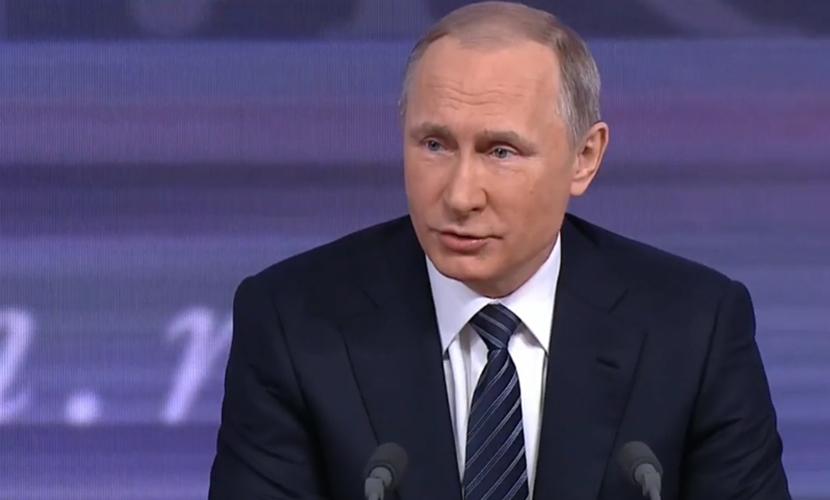Путин рассказал анекдот о зебре в ответ на вопрос о кризисе