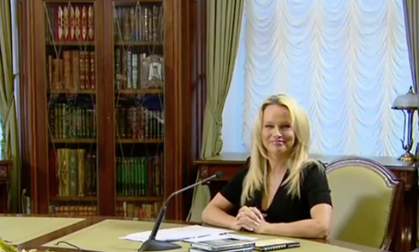 Памела Андерсон обсудила хищников с главой администрации Путина