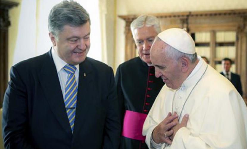 Порошенко поздравил Папу Римского с юбилеем за год до его 80-летия