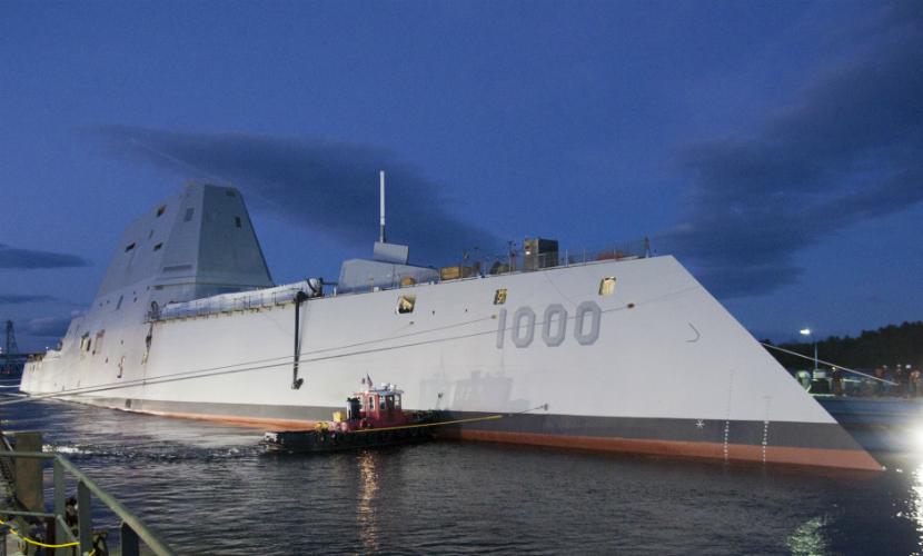 Крупнейший в истории флота США эсминец вышел на ходовые испытания