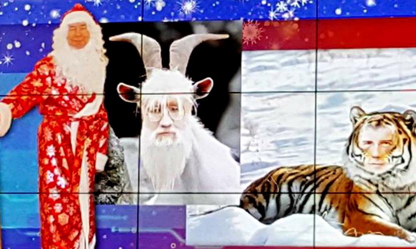Глава ЦИК Чуров под Новый год превратился в козла