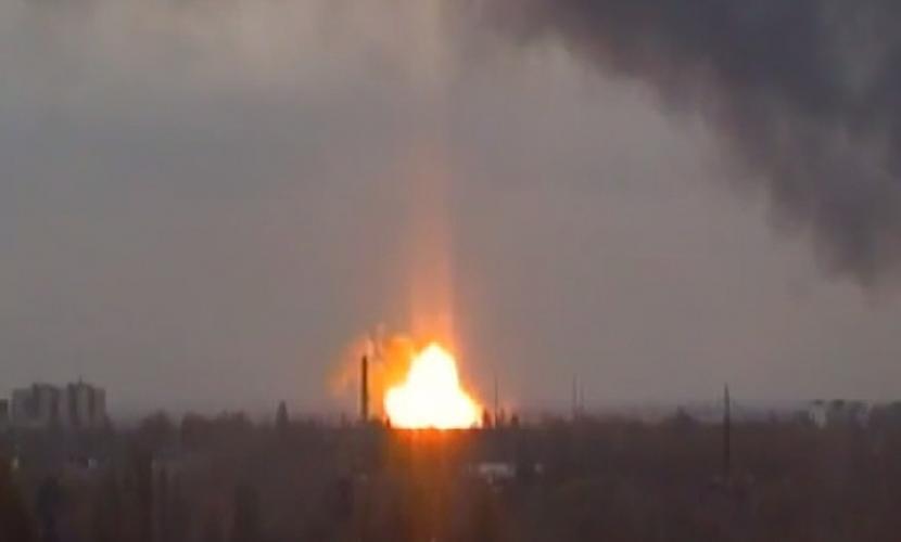 Украинские диверсанты взорвали остановку в центре Донецка