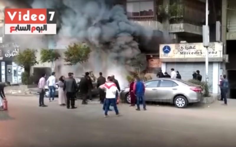 Опубликовано видео пожара после атаки с
