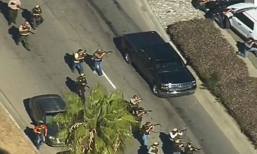 В ходе перестрелки с подозреваемыми в Калифорнии ранен один полицейский