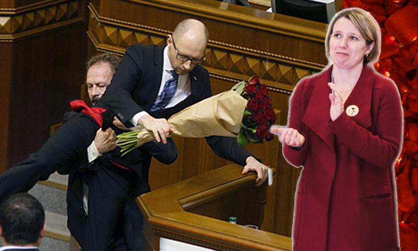 Посол Британии на Украине высмеяла позор Яценюка в Верховной раде