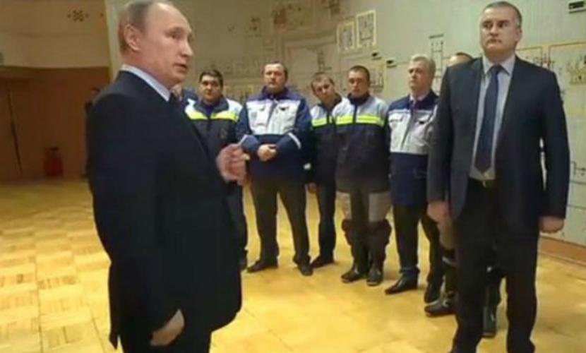Владимир Путин запустил первую линию энергомоста в Крым