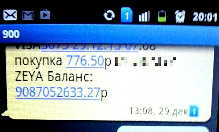 Сбербанк перевел на счет жительницы Амурской области 9 миллиардов рублей