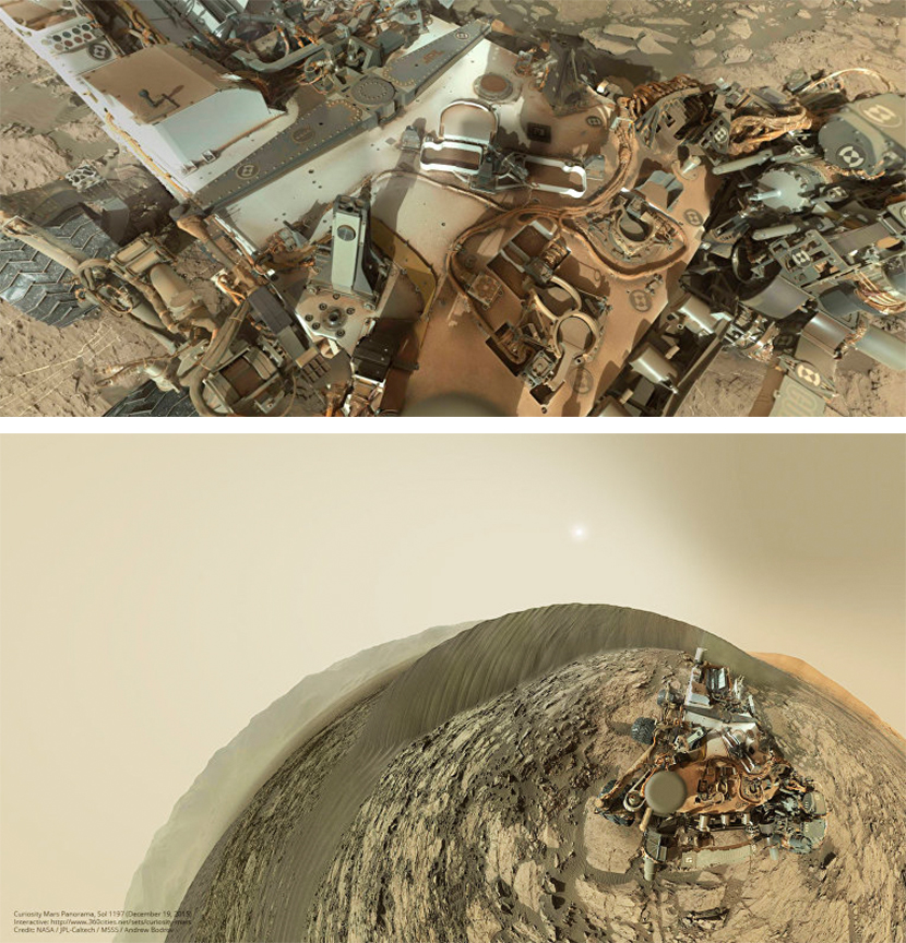 Как марсоход фотографирует сам себя - ВМС Строй