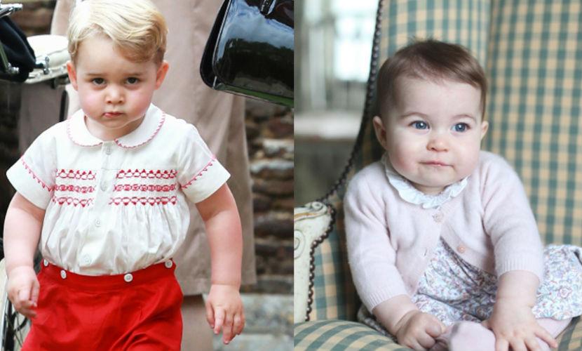 Подросшие Джордж и Шарлотта