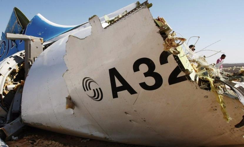 Обломок авиалайнера А321
