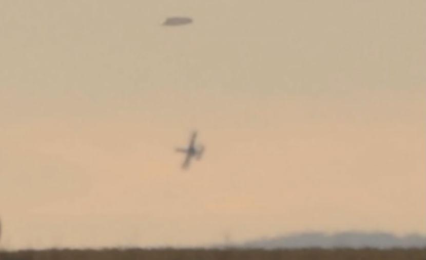 Огромный НЛО преследовал военный самолет в Болгарии
