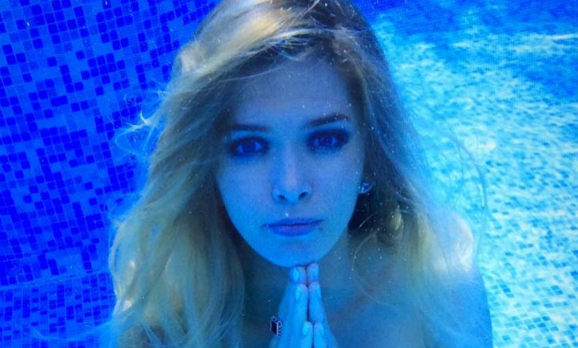 Вера Брежнева на коленях под водой умоляла взять ее на море