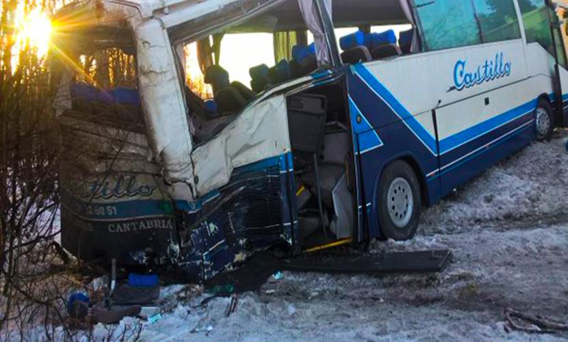 18 туристов серьезно пострадали в аварии с автобусом в Ленинградской области