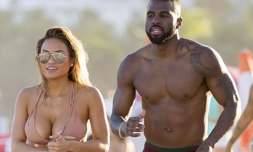 Бывшая подружка 50 Cent порезвилась с новым возлюбленным на пляже в Майами