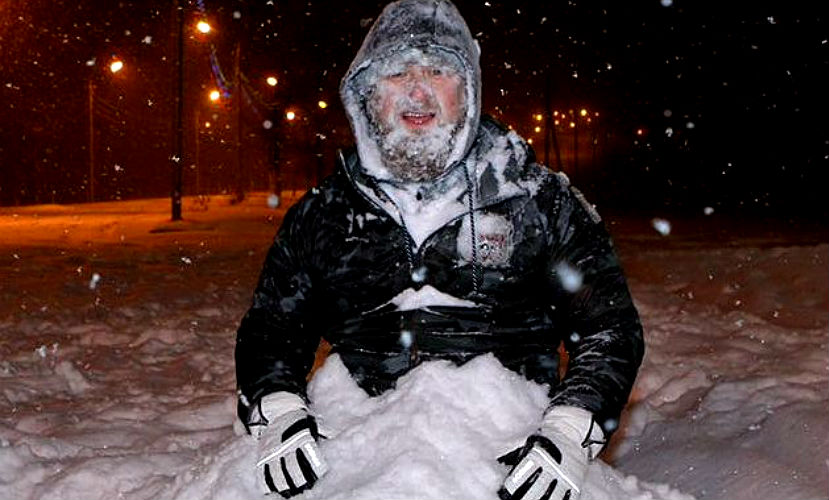 Рамзана Кадырова закопали в снегу