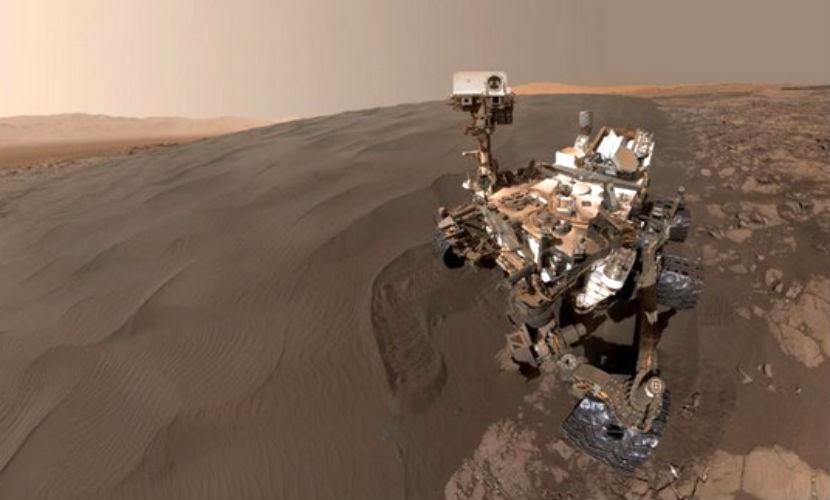 Космический аппарат Curiosity сделал первое селфи на Марсе