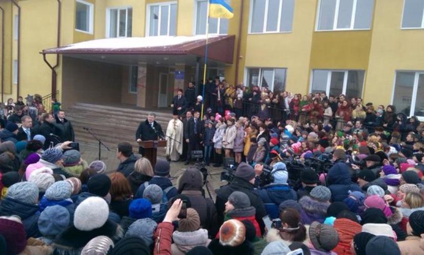 Порошенко в Тернополе дал жителям Украины обещание обойтись без российского газа