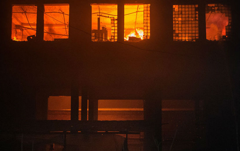 Девять человек погибли при пожаре на Стромынке
