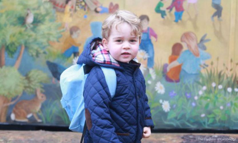 Первый поход сына принца Уильяма и Кейт Миддлтон в детский сад умилил Интернет