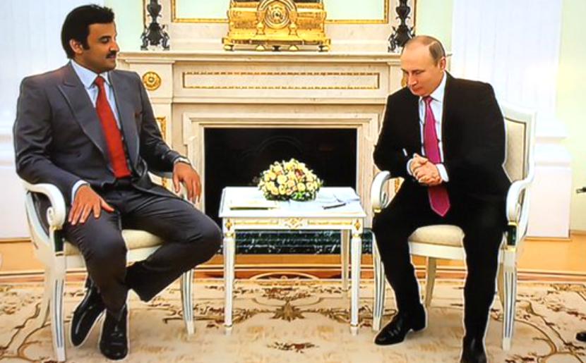 Путин предложил эмиру Катара сотрудничать в газовой сфере