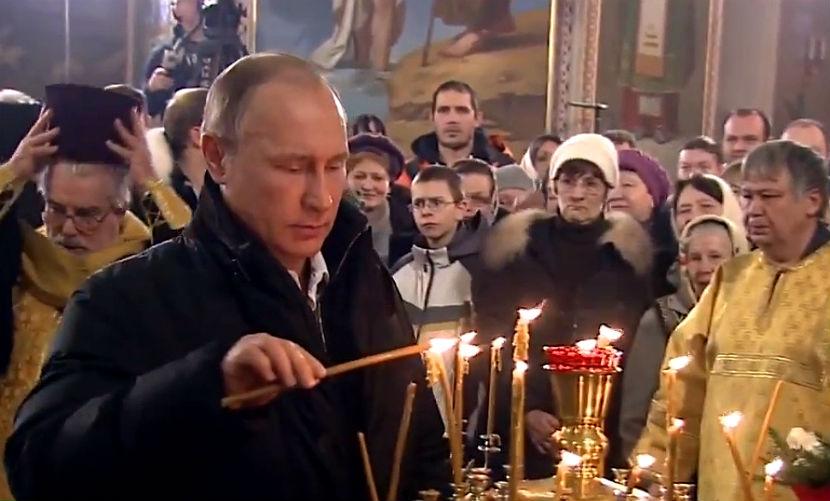 Путин осмотрел духовно-образовательный центр при храме, где встретил Рождество