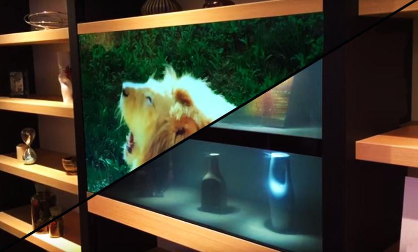 Опубликовано видео с первым в мире прозрачным телевизором
