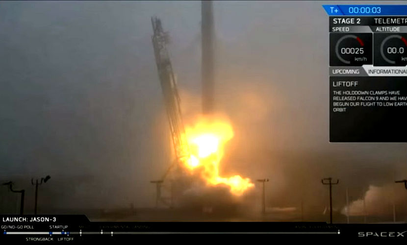 Ракета Falcon 9 со спутником мониторинга океана от NASA успешно стартовала в Калифорнии