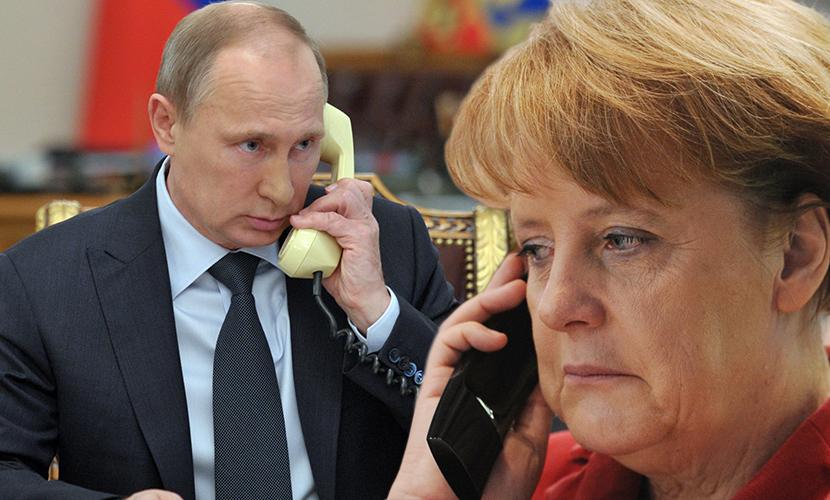 Путин обсудил с Меркель будущие выборы в Донбассе