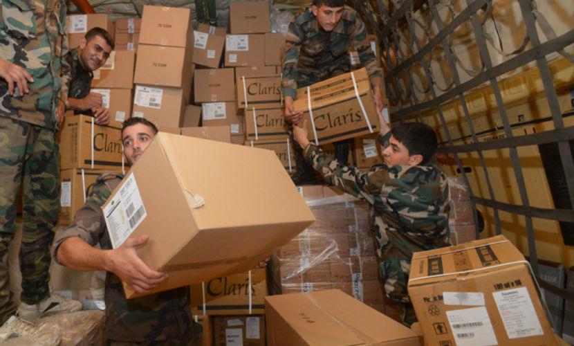 Турки обстреляли сирийских военных во время доставки гуманитарных грузов