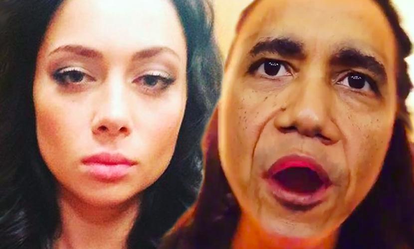 Красотка Самбурская с лицом Барака Обамы