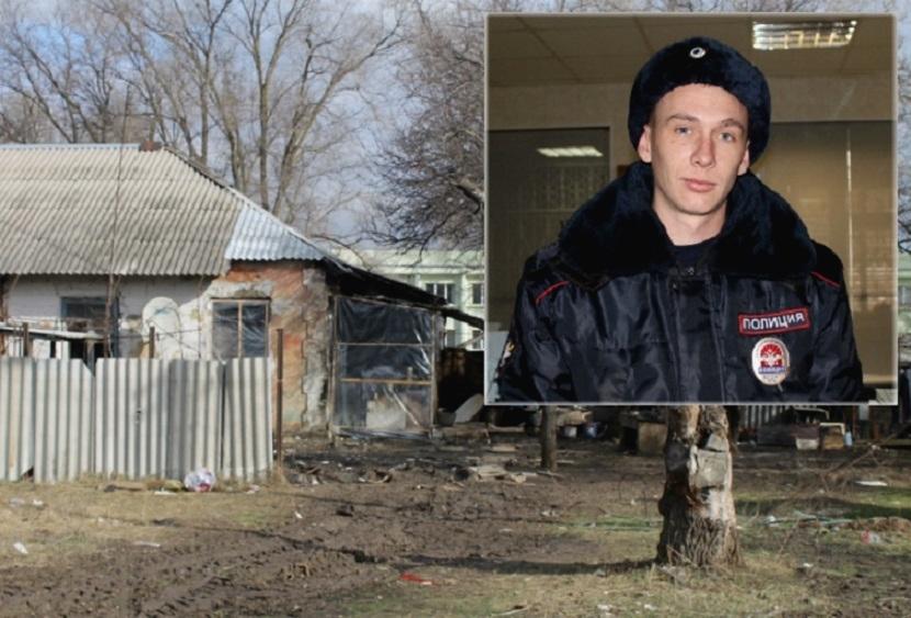 В Ростовской области полицейский спас из огня четырехлетнего ребенка