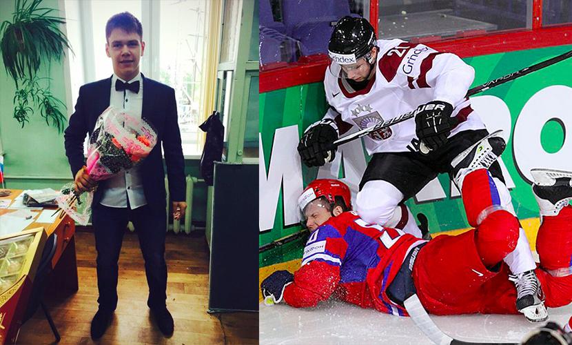 Саша Орехов в повседневной жизни и на льду