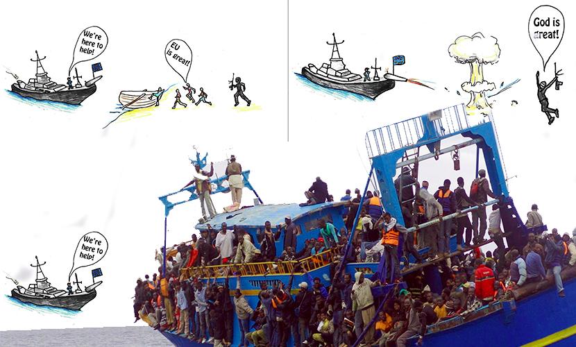 WikiLeaks опубликовал секретный военный доклад ЕС о захвате лодок с беженцами