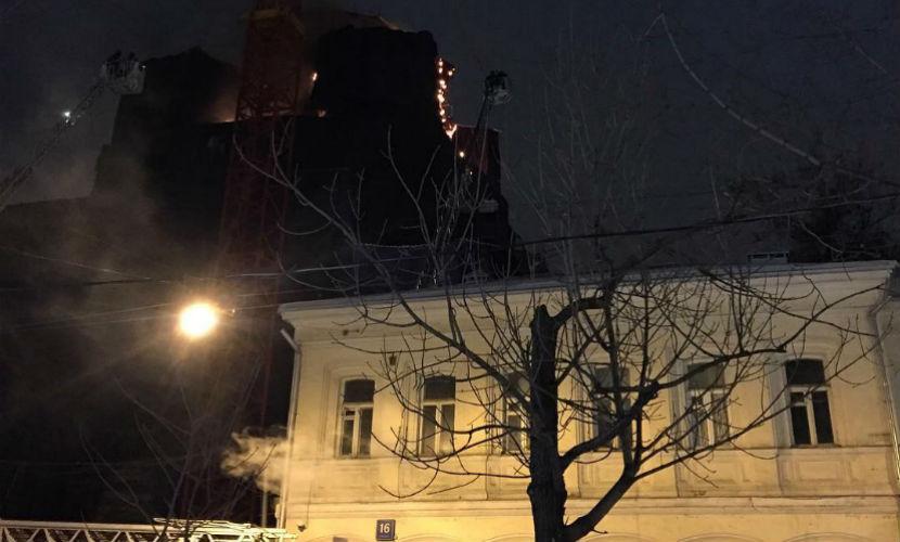 Пожар на территории храма в центре Москвы ликвидирован