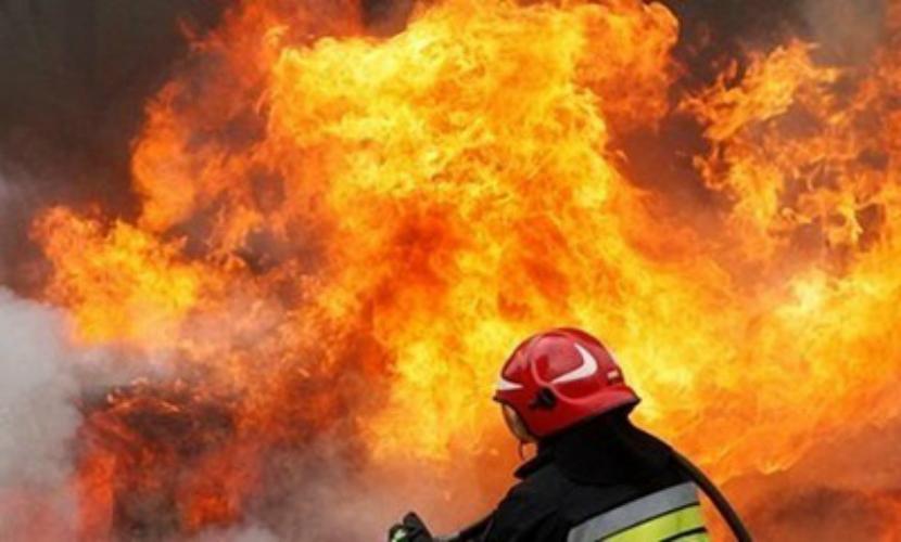 В исправительной колонии под Петербургом вспыхнул сильный пожар