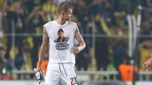 Муж Бузовой рассказал, зачем разозлил турок и УЕФА футболкой с Путиным