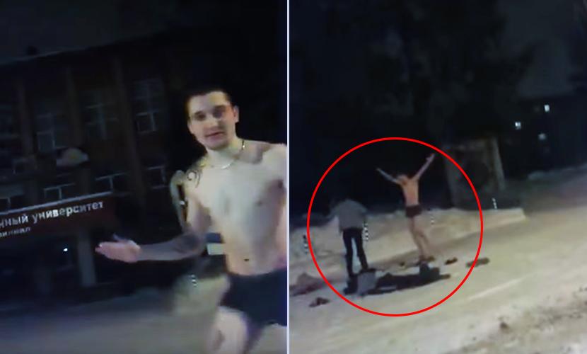 Секс влюбленных в снегу перед университетом в Башкирии попал на YouTube