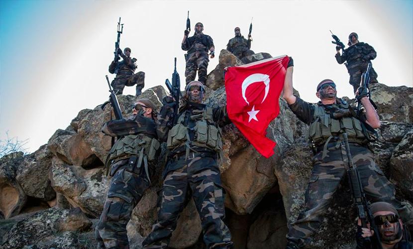Спецназ Турции оставил послание для русских на стене обстрелянного дома