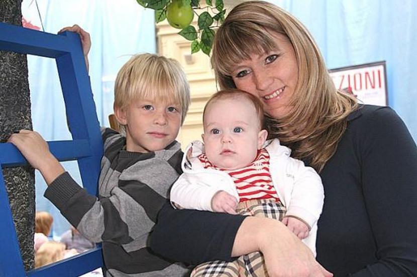 Светлана Журова с сыновьями, Иваном и Ярославом