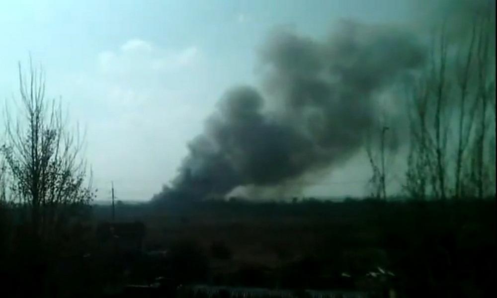 Мебельный завод сгорел в Калининградской области
