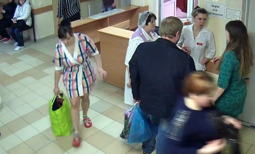 Похищение ребенка из роддома Белгорода попало на видео