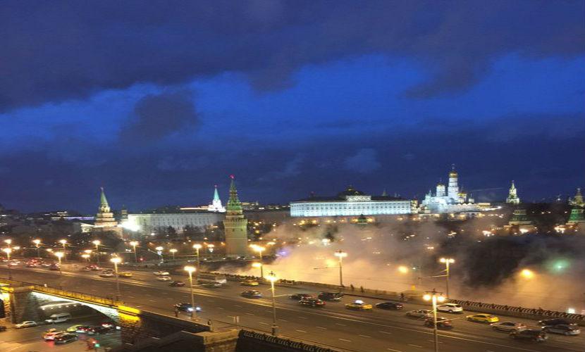 Кремль из-за аварии окутали горячие облака