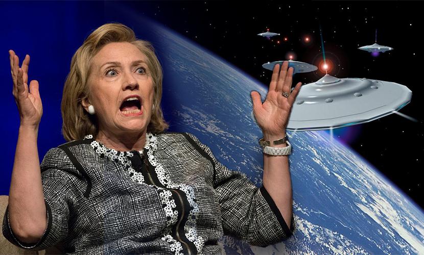 Все тайны НЛО пообещала раскрыть Хиллари Клинтон после избрания президентом США