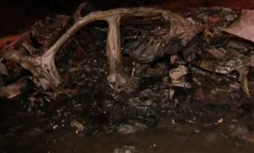 На МКАДе водитель BMW сгорел заживо