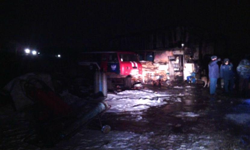 Четверо мужчин сгорели во время пожара в Пермском крае