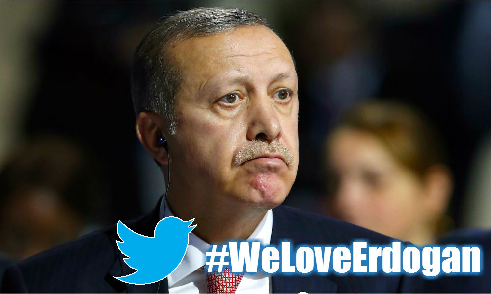 Twitter удалил хэштег о любви к Эрдогану и вызвал гнев у властей Турции