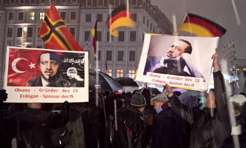 В Германии прошел многотысячный митинг против политики Обамы и Эрдогана