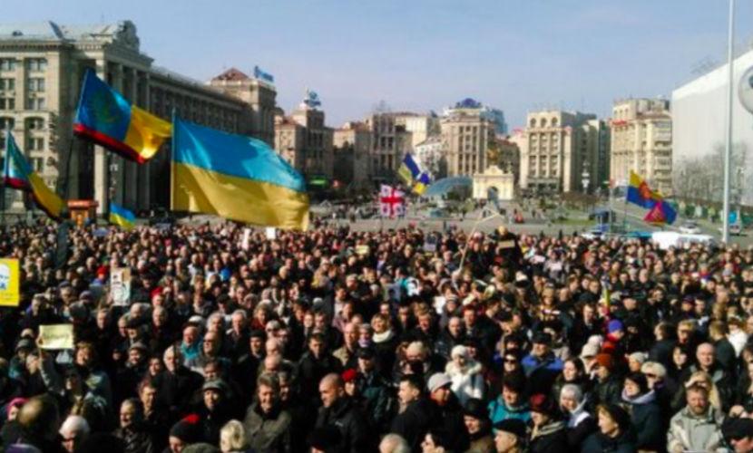 Сторонники Надежды Савченко пришли протестовать и молиться на майдан